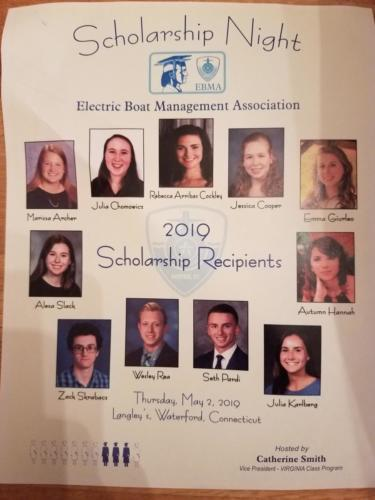 2019 EBMA Scholarship Night